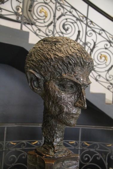 sculpture of kafka_Century Hotel foyer