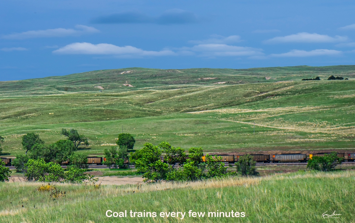 Sand Hills west of Mullen.  Coal trains every few minutes.